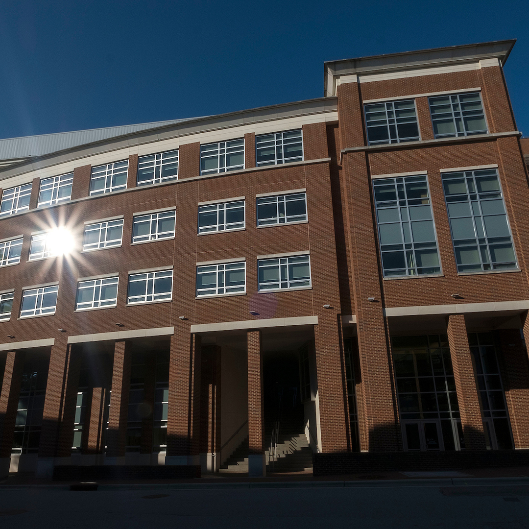 the exterior of Carrington Hall, the building on Carolina's campus that houses the School of Nursing